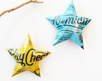 Pay Check Pilsner or Humidity Pale Ale, Fullsteam Brewery, North Carolina Beer, NC, Christmas Ornament Stars