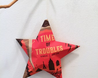 Time of Troubles Trophy Brewing Company Beer Star, Huge
