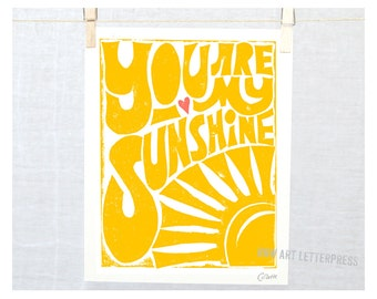 You are My Sunshine - Wall Art - Mothers Day - Mom from kid - Mother's Day Gift Idea - Grandma Gift - Baby Shower - Adoption Gift - kitchen