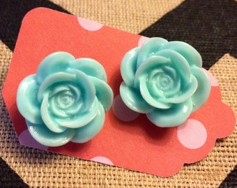 Ready Set... Rockin Rose Rockabilly Style Large Rose Earrings. Why fit in when you were born to stand out!