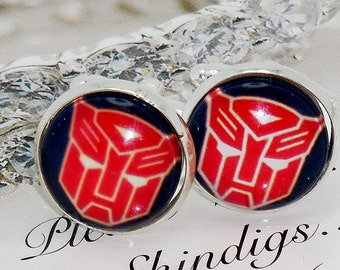 Optimus Prime Transformers Cuff Links with Case, Best Man, groomsman, bridesman cufflinks, custom wedding gifts wedding gift