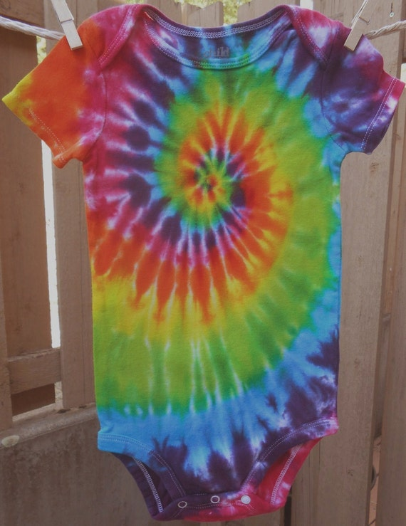 Tie Dyed Baby Dress   Tie Dyed Baby Reverse Tie Dye Tie Dyed Baby Clothes