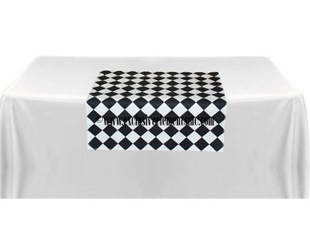 Schwarz Und Weiß Tisch Platz überlagern Diamant Hochzeit Tisch Herzstück  Stoff Bettwäsche Moderne Dekoration