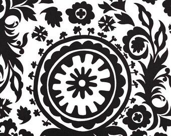 Black and White Table Runner Black Floral Damask Runner Wedding Table Centerpiece Linens Decoration