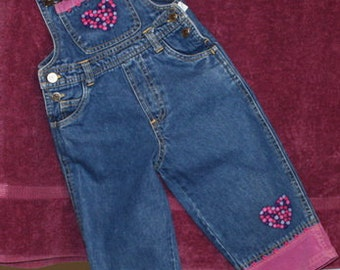 Denim Overall With Embellishment Embroideries