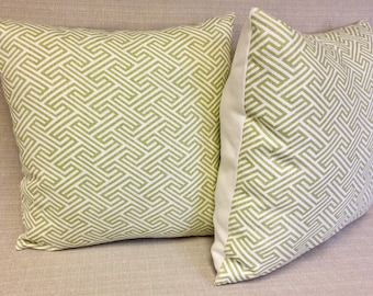 Lime Maze 20 inch PILLOW Cover