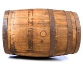 KEG BARREL Whiskey Wine Bourbon Wood Iron Basement Decor Planter Yard Art repurpose Design Drinking Booze Vineyard Tap Bottle Mid Century