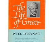 HISTORY BOOK 1966 Will Durant Ariel Life Of Greece History Series Story Of Civilization II Anthropology Eames Library Gift Historian Europe