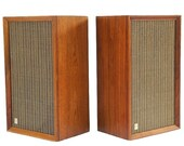 SPEAKERS Knight Allied Radio Stereo Pair Music Sound Record Vinyl Tube Amp AUDIOPHILE quality Solid Wood Eames Herman Miller TheHeartTheHome