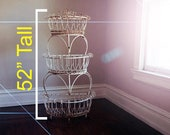 SALE Swanky Victorian Plant Stand 52 39 39 Metal Wire Multi Tier Brought To You By TheHeartTheHome.com