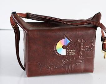 CASE BAG Kodak Rainbow Brown  Film Strap Instant Film Camera Bag 35mm analog purse Vintage Display Protective TheHeartTheHome 32