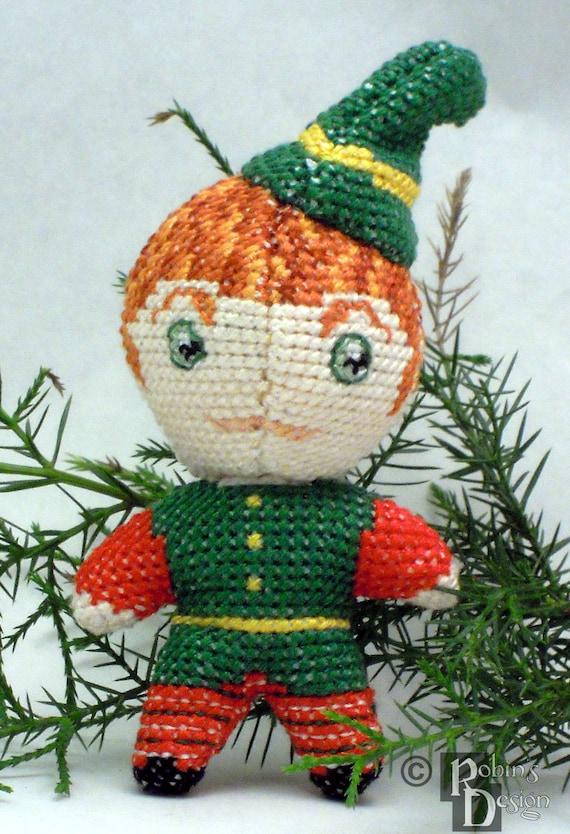 Santa\'s Elfen Puppen 3D zwei Kreuzstich Nähen Muster PDF | Etsy