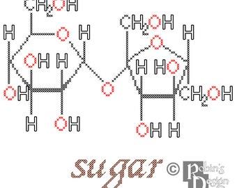 Sugar Molecule Cross Stitch Pattern PDF
