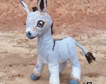 Omi the Donkey Doll 3D Cross Stitch Animal Sewing Pattern PDF