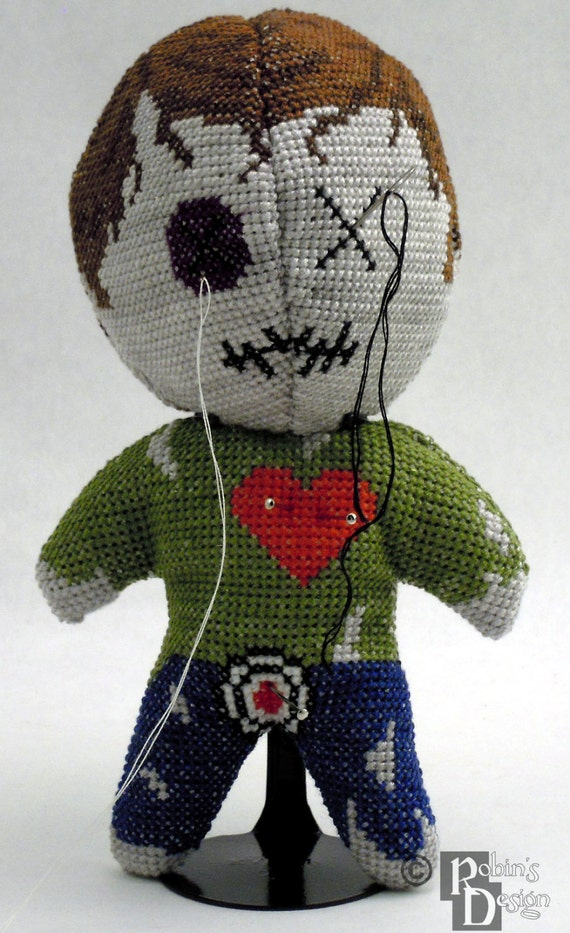 Voodoo-Puppe Pin Cushion 3D Cross Stitch Schnittmuster PDF | Etsy