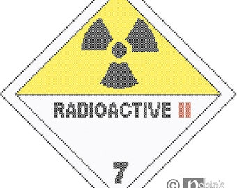 Radioactive Hazard Sign Cross Stitch Pattern PDF