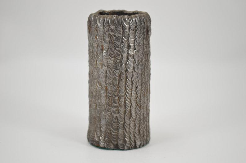 Vintage stick weld vase TIG primitive welded steel vase