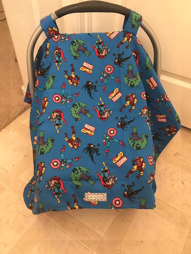 image 0 ... & Marvel Baby Car Seat Canopy Car Seat Cover superhero   Etsy