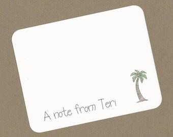 palm tree stationery etsy