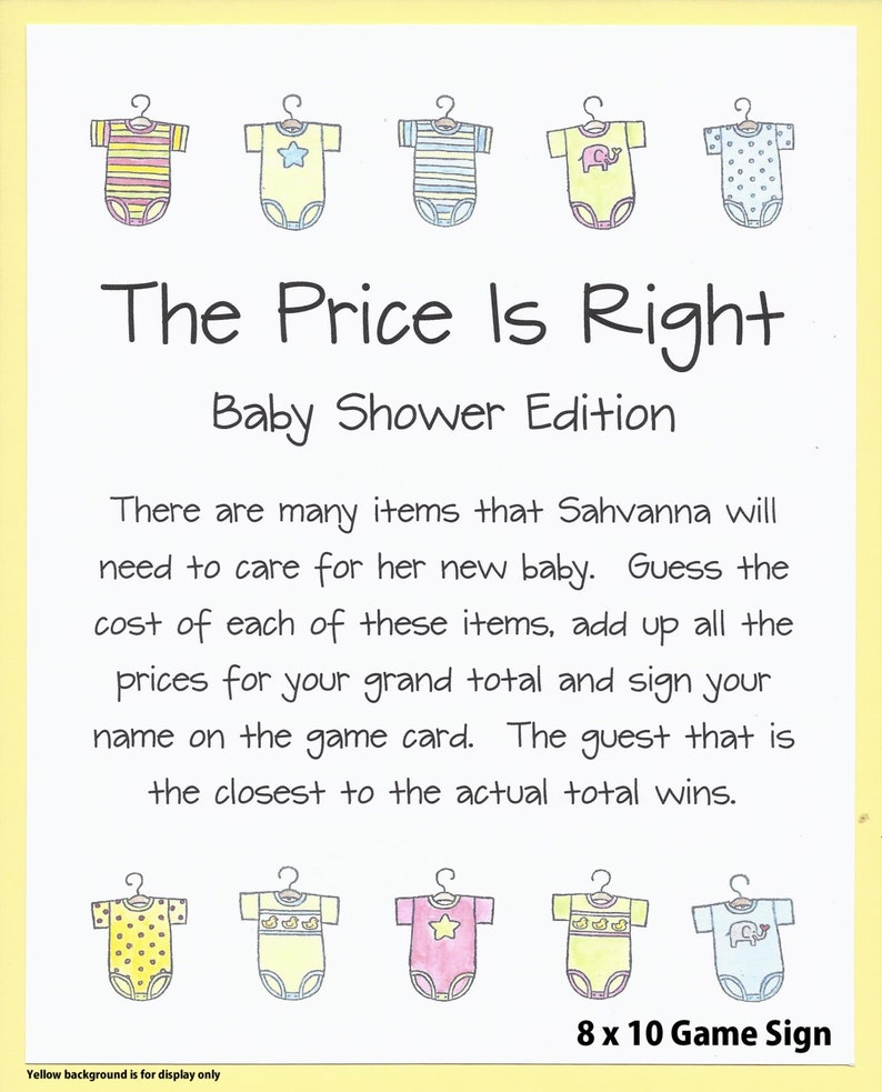 85077c4bd2bf4 The Price Is Right Baby Shower Game - Guess the Price Baby Shower Game,  Baby Supplies Guessing Game, Couples Baby Showers, Twins Baby Shower