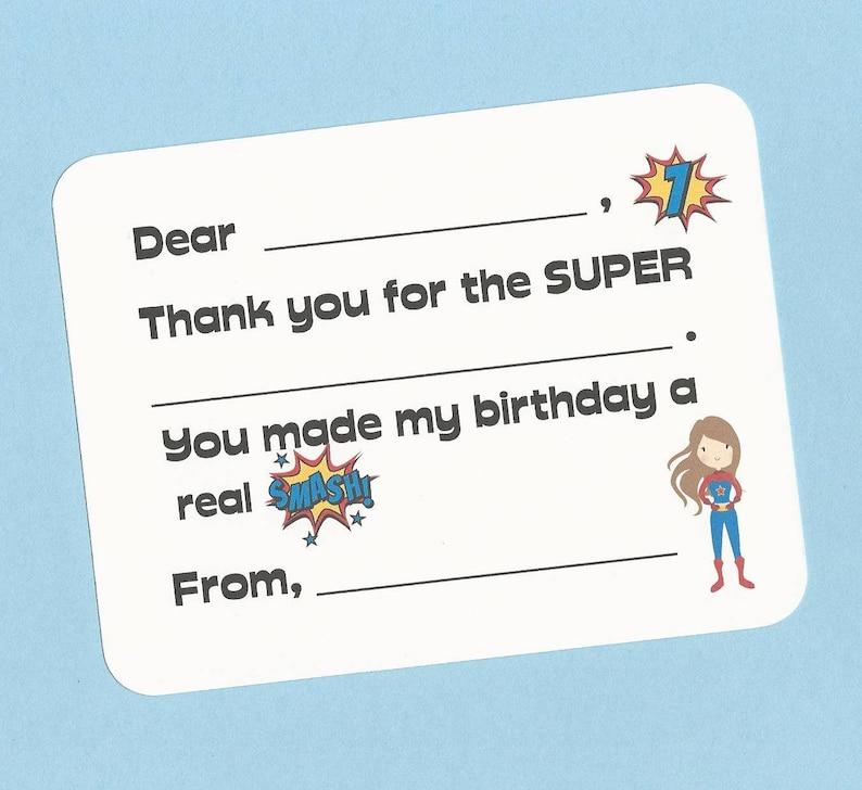 38a034477f8d8 Super Hero Girls Thank You Cards - Choose Your Super Hero - Fill in the  Blank Cards, Super Girl Note Cards, Girls Super Hero Thank You Notes