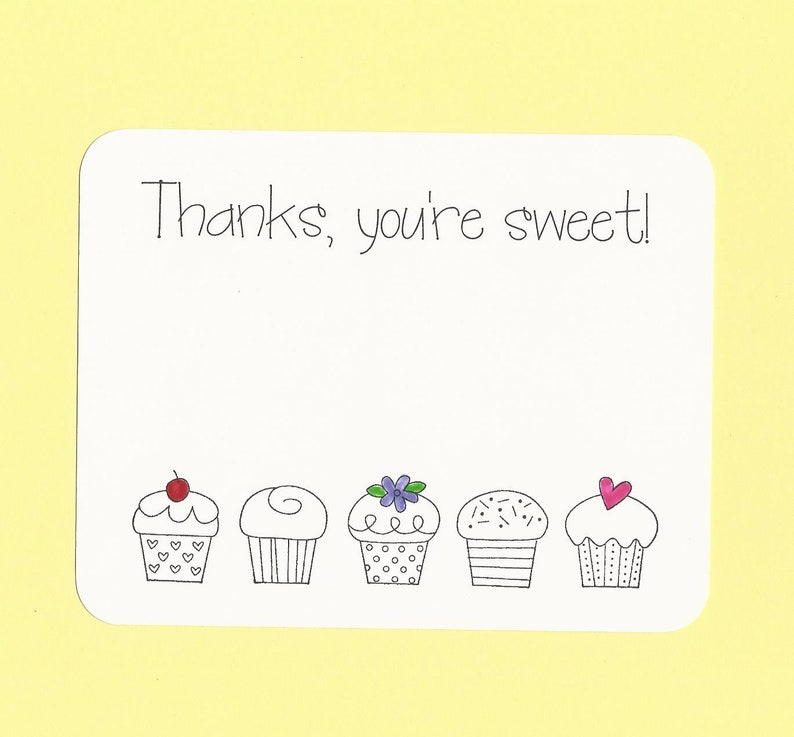 Flat Cupcake Thank You Cards Fill in the Blanks Cupcake Thank You Cards Cupcakes Coloring Thank You Notes Color Your Own Cupcakes Cards