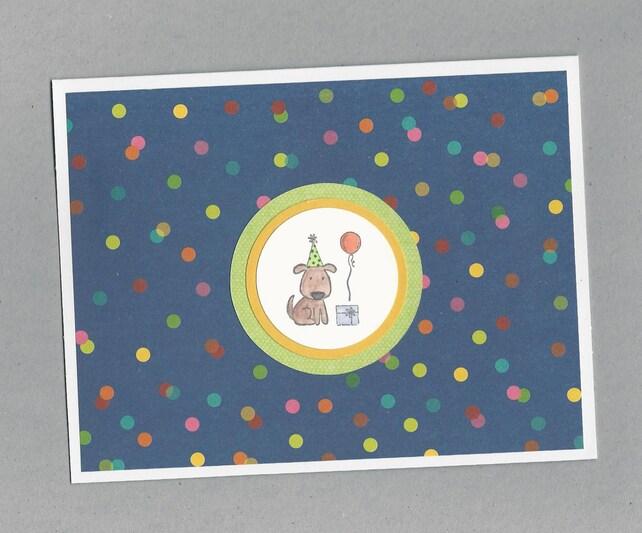 Puppy Dog Birthday Card