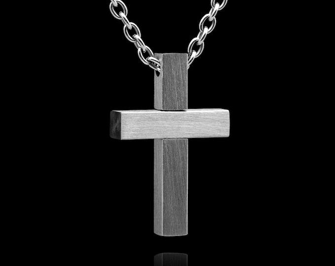 Crucifix Stainless Steel, Cross necklace, Cross pendant, cross jewelry, religious jewelry, crocifisso