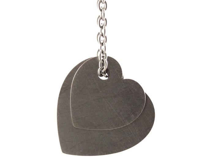 Titanium Cuori Pendant, Stainless Steel Chain by Merola