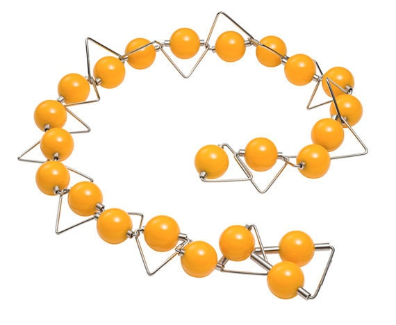 Panarea - Necklace Phenolic Spheres Stainless Steel