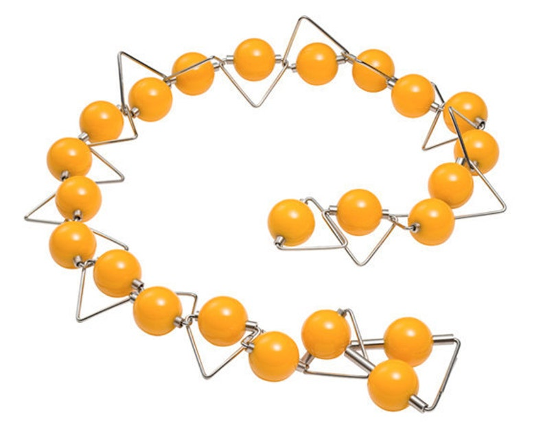 Panarea  Necklace Phenolic Spheres Stainless Steel image 0