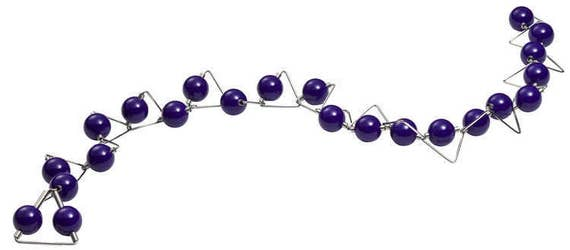 Panarea - Necklace Purple Phenolic Spheres and Stainless Steel