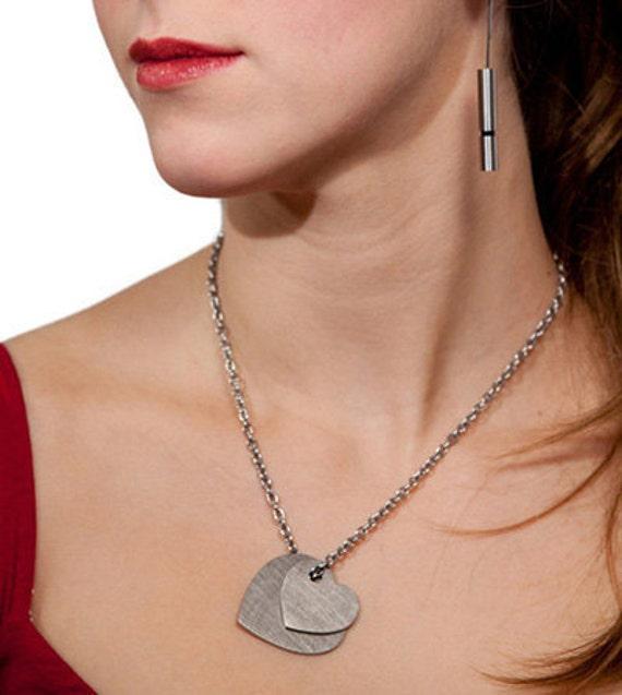 Cuori Pendant Titanium, Stainless Steel