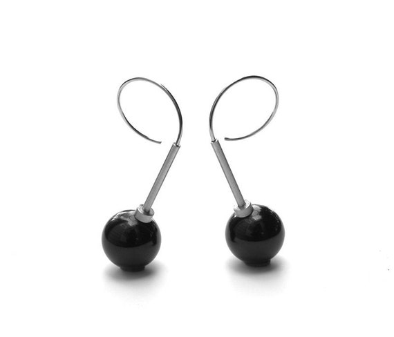 Cerasa Earrings Phenolic, Stainless Steel, Aluminum