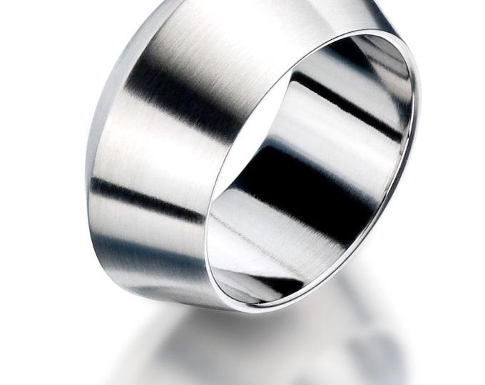 Pozzallo Man Ring Stainless Steel