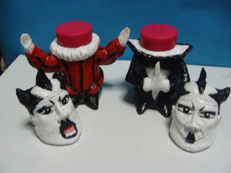 Standard size,fullbody style *Made To  Order* Klaus Nomi  Salt and Pepper Shaker Set