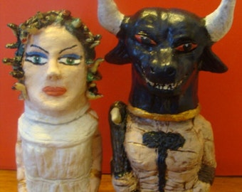 Medusa And Minotaur S/P shakers(standard Size)*Made To Order*