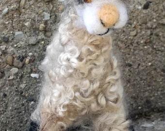 Alpaca Needle felted soft sculpture
