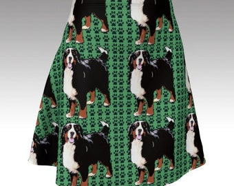 Bernese Mountain Dog Flare Skirt