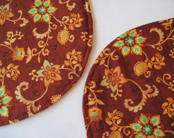 Burgundy Oval Placemats Reversible set of 4 or 6 Turquoise Oval Placemats Maroon Placemats Southwest Placemats Turquoise Maroon table decor