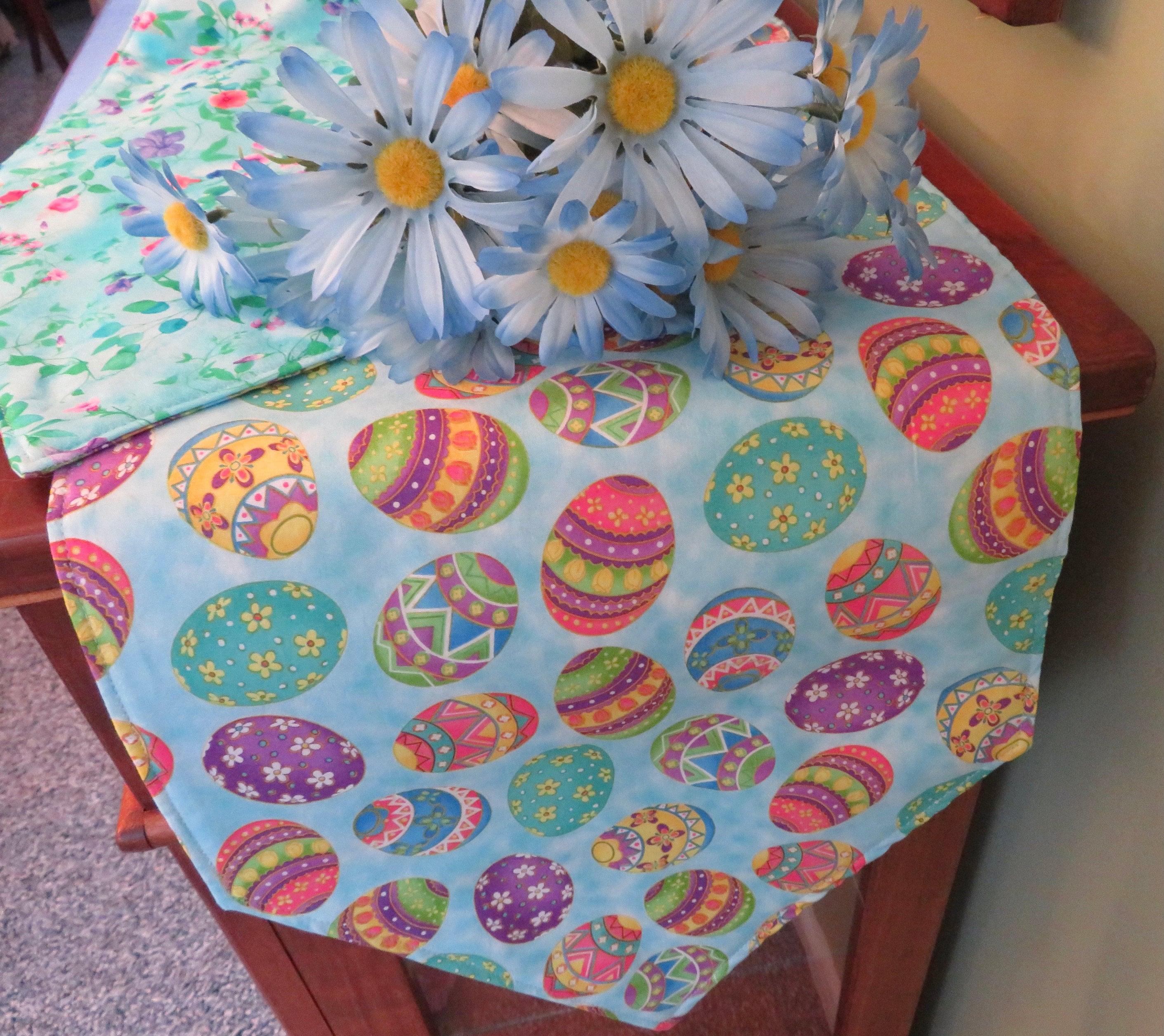 Purple Star Wars colorful Easter Eggs  Handmade Easter Table Runner