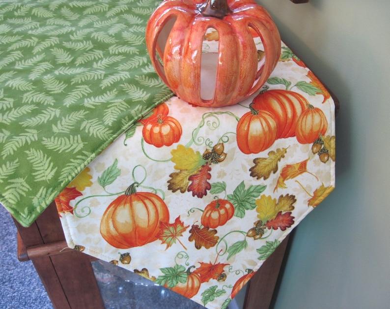 54 72 90 108 Pumpkin Table Runner Reversible Autumn Table Runner Halloween Table Runner Thanksgiving Table Runner Pumpkin Table Decor