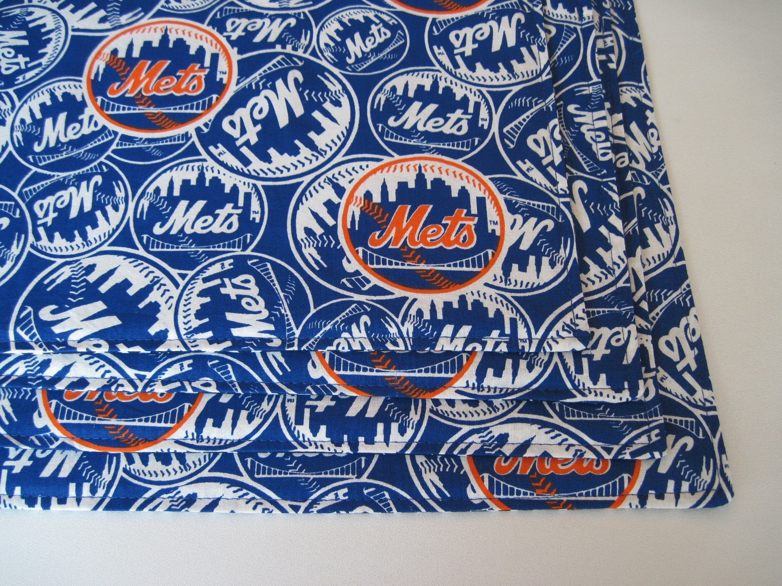 NY Mets Placemats Reversible set 4 or 6 Blue Stars Placemats | Etsy