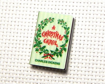 Needle Minder Miniature Book A Christmas Carol Charles Dickens Victorian Christmas 1 Inch