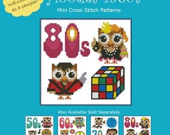 Hooties 1980s Cross Stitch Pattern PDF Chart