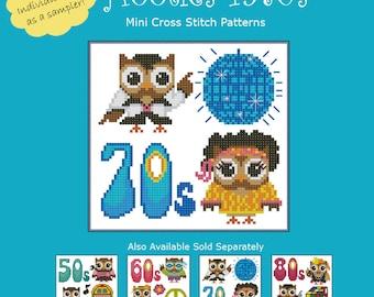 Hooties 1970s Cross Stitch Pattern PDF Chart