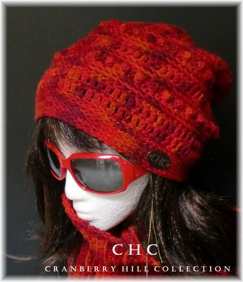 390d9a165a5 SALE Slouchy Hat Toque Crocheted.Hand Painted Peruvian
