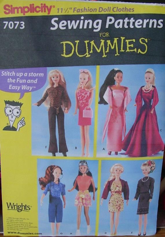 "Barbie Teen Doll Wardrobe Mail order pattern 11 1//2/"" Vintage 9390"