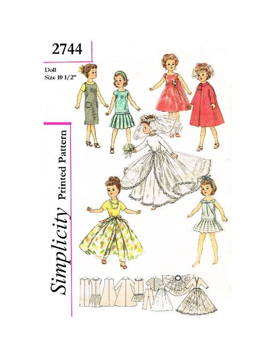"""Vtg 50s 10.5/"""" Little Miss Revlon Jill Toni Doll Clothes Dress Pattern Cissette"""