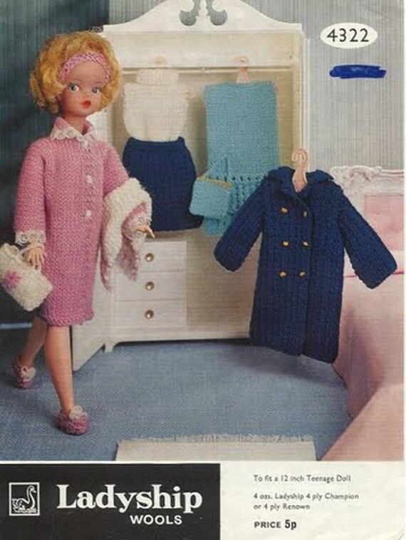 Pdf Knitting Pattern Sindy Tammy Or Other 12 Fashion Etsy
